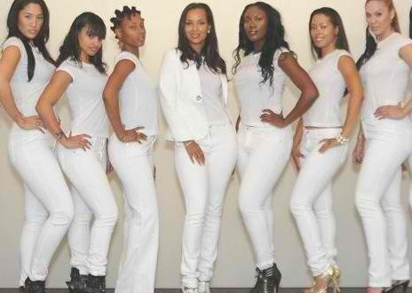 LisaRaye McCoy designs white denim for women with curves