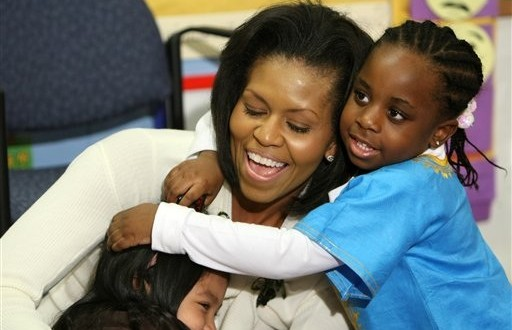 Kids 'go to work' with First Lady at White House