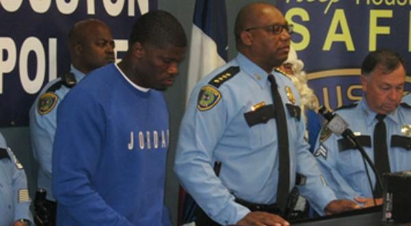 Texans' Andre' Johnson, HPD kick off HPD Blue Santa program