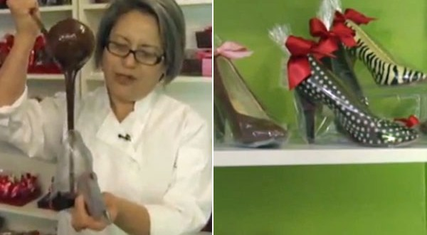 Sweet Feet! Chocolate high heels for Valentine's Day