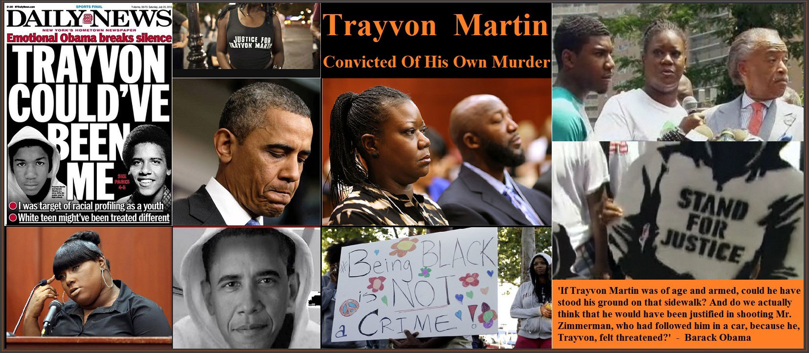 Obama:  'Trayvon Martin could have been me 35 years ago'