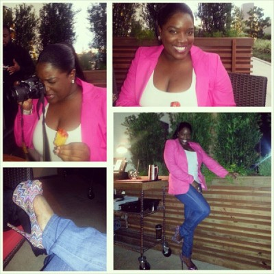@NewsWitAttitude ...Shooting, eating and styling at Philippe's Houston for grand opening of the new patio. Love it!