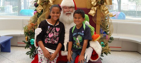 Photos with Santa at Children's Museum for Great Gobbler event