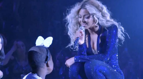 Beyonce sings 'Survivor' to terminally ill girl at Mrs. Carter show