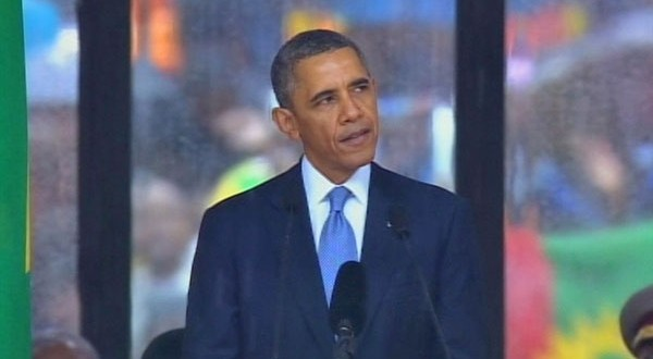 President Obama speaks at Memorial Service for Nelson Mandela