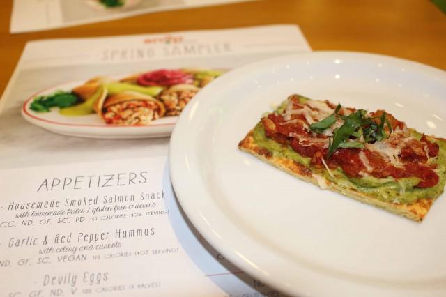 Provencal Flatbread (190 calories per slice) .. Photo credit:  Nakia Cooper