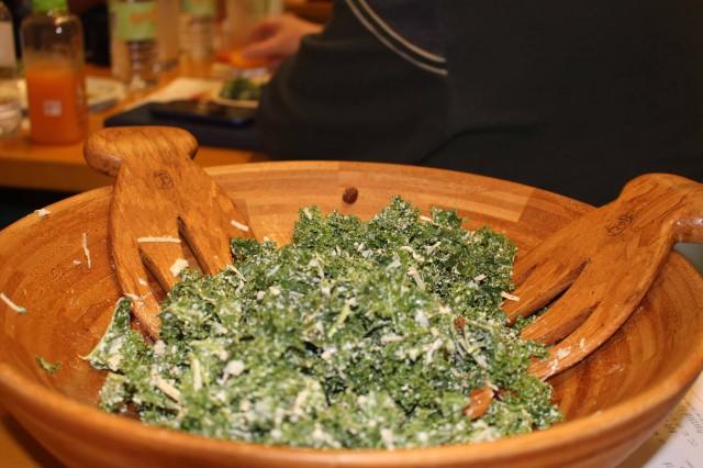 Kale Caesar Salad (190 calories)...Photo credit:  Nakia Cooper