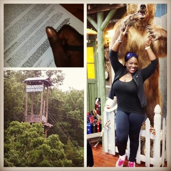 @NewsWitAttitude --Bear didn't get me but did I sign my life away? Conquering fears @BransonZipline @ExploreBranson #BlackGirlBucketList