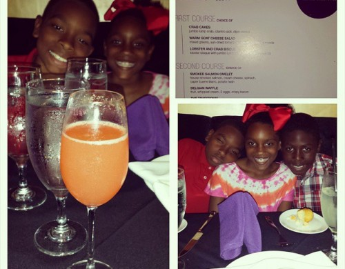 @NewsWitAttitude: Sooo..who remembers the Cosby Show episode where the kids went to a fancy restaurant and hated everything? Well we're certainly NOT going to have that experience here! Brought kids to #Mr.Peeples for #HoustonRestaurantsWeeks. .. notice my mimosa already....hmmmmm