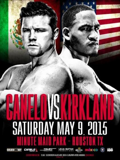 canelo kirkland fight poster