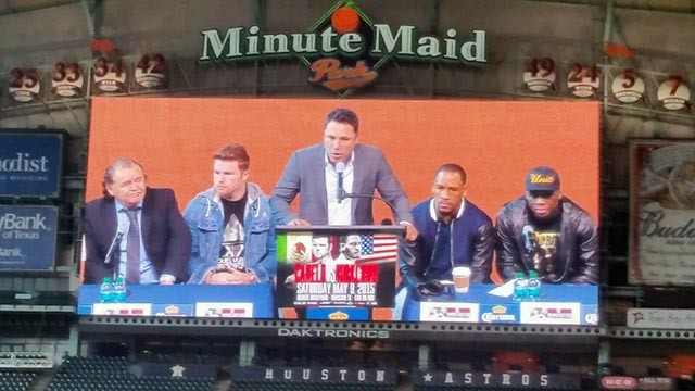 It was a packed house in Minute Maid Park as the boxers and promoters made the announcement.