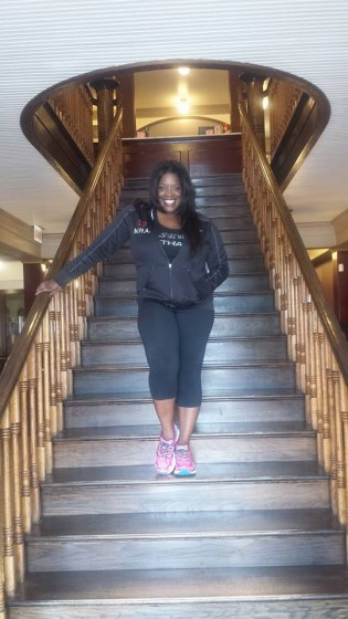 """@NewssWitAttitude: Got my """"Scarlet O'Hara/ Titanic"""" staircase pose on. #GoneWithTheWindFabulous at #MessinaHof Winery in #GrapevineTexas Visit Grapevine Messina Hof Grapevine Winery"""