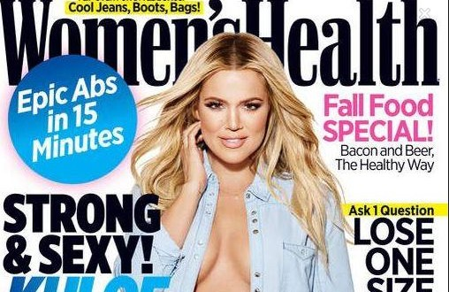 Close yo mouth!  Khloe Kardashian shuts down haters with HOT magazine cover