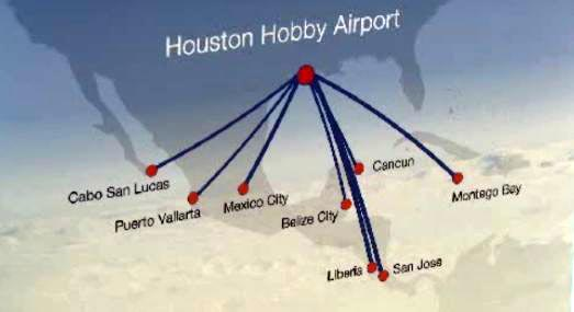 Hey, hey!  Houston's Hobby Airport now takes you to international destinations