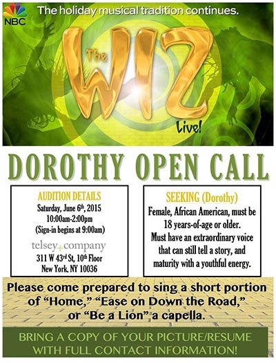 the wiz open call