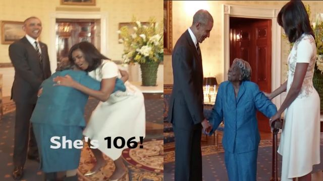 Cute, 'fancy' 106-year-old fulfills Black History wish meeting the Obamas
