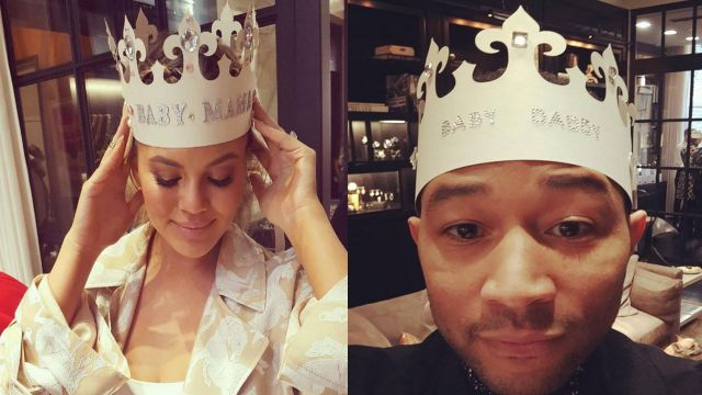 Chrissy Teigen, John Legend have 'royal' shower for baby girl
