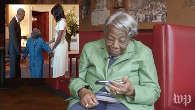 106-year-old woman watches video of herself meeting president: I can die smiling now