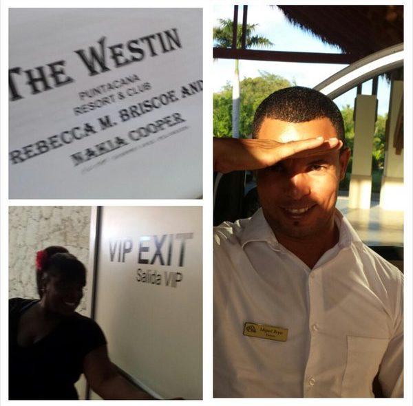 @NewsWitAttitude: 1st class treatment at @GoDomRep. Breezed thru customs, out VIP exit & this handsome gent took us 2 @westinpuntacana