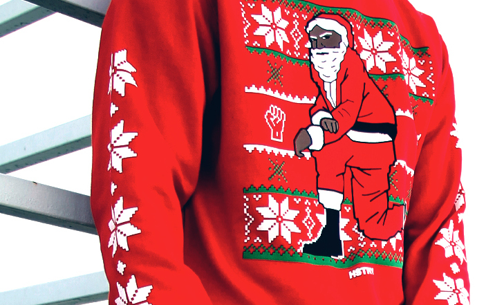 'Tis the season for justice: Rapper Nas is selling kneeling Santa sweaters in support of justice reform