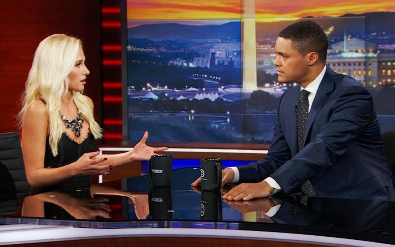 Trevor Noah gets the controversial Tomi Lahren together!!! Watch as he calmly puts her up on game