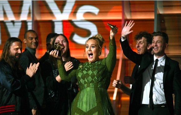 Adele salutes Beyonce' in Grammy acceptance speech