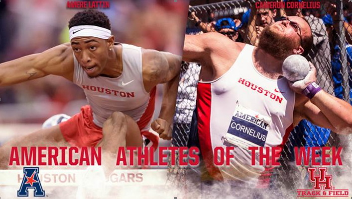Lattin, Cornelius named American Athlete of the week– Duo earns Houston's eighth, ninth honors of indoor season!