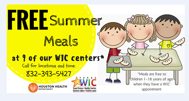 Houston children to get free summer meals during appointments at nine WIC centers