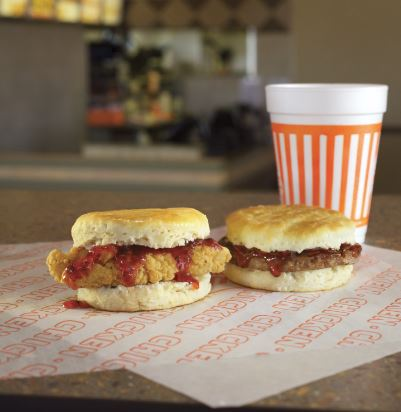 Kickstart your mornings with Whataburger's new spicy strawberry chicken and sausage biscuits
