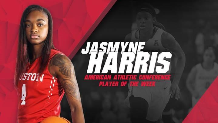 University of Houston's Jasmyne Harris named American Player of the Week